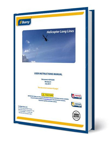 Instructions Manual: Barry Synthetic Helicopter Longlines