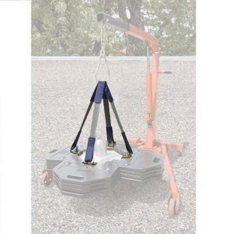 Web Sling Lifting Kit for Roof Top Counterweight Anchor