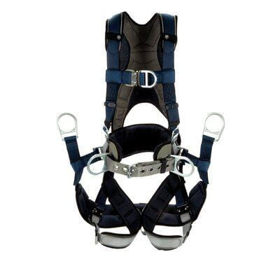3M™ DBI-SALA® ExoFit™ Plus Comfort-Style Tower Climbing Harness 1140067C, small, blue