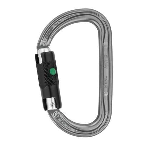 Petzl AM'D ball-lock black carabiner with 25mm opening