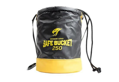 Python Safety™ Safe Bucket 250lb Load Rated Drawstring Vinyl - Barry Cordage