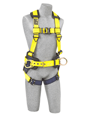 Delta™ Construction Style Positioning Harness quick connect buckle leg straps (size Medium) - Barry Cordage
