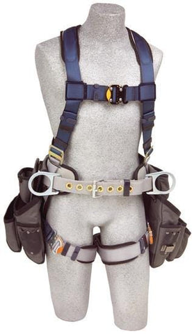 ExoFit™ Construction Style Harness with Tool Pouches (size Large) - Barry Cordage