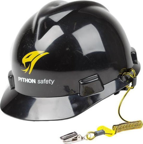 Python Safety™ Hard Hat Coil Tether (100 Pack) - Barry Cordage