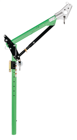 Advanced™ One-Piece Adjustable Offset Davit Mast 69.5 in. to 87.5 in. - Barry Cordage