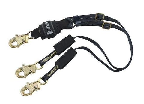 Force2™ Adjustable 100% Tie-Off Shock Absorbing Lanyard - Barry Cordage