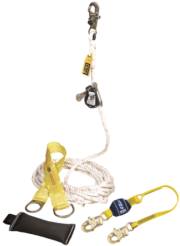 Lad-Saf™ Mobile Rope Grab Kit - 50 ft. (15 m) - Barry Cordage
