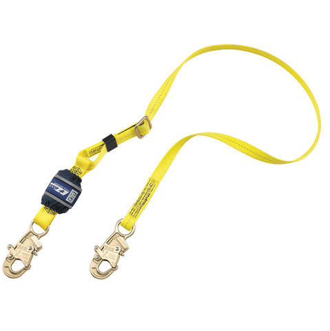 EZ-Stop™ Adjustable Shock Absorbing Lanyard - E4 snap hooks at each end 6 ft. (1.8m)