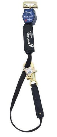 Nano-Lok™ Tie-Back Quick Connect Self Retracting Lifeline - Web - For Hot Work Use - Barry Cordage