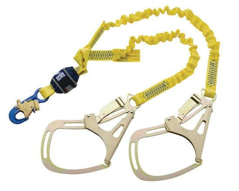 EZ-Stop™ 100% Tie-Off Shock Absorbing Lanyard - E4 snap hook at center 6 ft. (1.8m) - Barry Cordage
