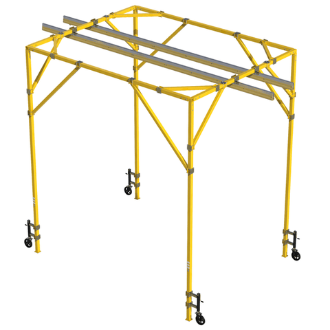 FlexiGuard™ Box Frame System with 14 ft. (4.3m) anchor height, 14 ft. (4.3m) width