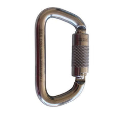 Saflok™ Carabiner 11/16 in. (17.5mm) gate - Stainless steel - Barry Cordage