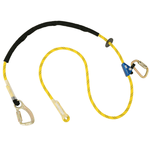 Pole Climber's Adjustable Rope Positioning Lanyard - Carabiner/Carabiner (Steel)