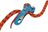 Stop Descender - Double Rope  anodized blue aluminum