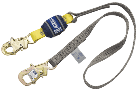 EZ-Stop™ WrapBax™ Tie-Back Shock Absorbing Lanyard - E4 6 ft. (1.8m) - Barry Cordage