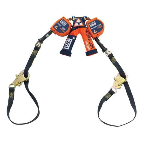 Nano-Lok™ Edge Twin-Leg Tie-Back Quick Connect Self Retracting Lifeline 9 ft. (2.7m) - Cable - Barry Cordage