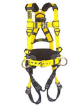 Delta™ Construction Style Positioning Harness quick connect buckle leg straps (size Small)