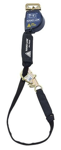 Nano-Lok™ Arc Flash Tie-Back Quick Connect Self Retracting Lifeline 10 ft. (3m) - Web - Barry Cordage
