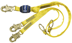 EZ-Stop™ Tie-Back 100% Tie-Off Shock Absorbing Lanyard 6 ft. (1.8m) - E4 with steel snap hooks - Barry Cordage