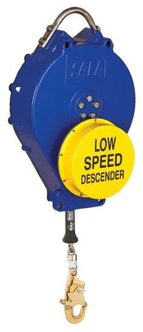 Rollgliss™ Descender - Vertical/Auto Retract 115 ft. (35 m) low speed galvanized lifeline - Barry Cordage