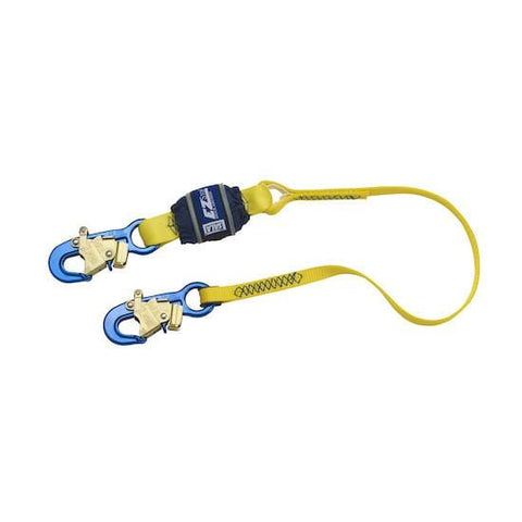 EZ-Stop™ Shock Absorbing Lanyard - E6 snap hooks at each end 4 ft. (1.2m) - Barry Cordage