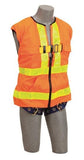 Delta Vest™ Hi-Vis Reflective Workvest Harness - Orange (size X-large)