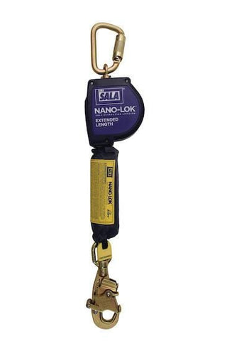 Nano-Lok™ Extended Length Self Retracting Lifeline with Anchor Hook - Web 10 ft. (3m) swiveling snap hook - Barry Cordage