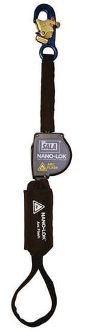 Nano-Lok™ Arc Flash Self Retracting Lifeline with Anchor Hook 8 ft. (2.4m) - web loop - Barry Cordage