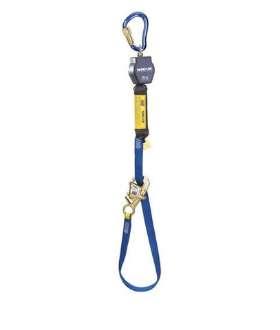 Nano-Lok™ Tie-Back Self Retracting Lifeline - Web - Aluminum Carabiner - Barry Cordage