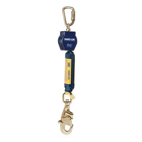 Nano-Lok™ Self Retracting Lifeline with Anchor Hook - Web - Carabiner/Hook