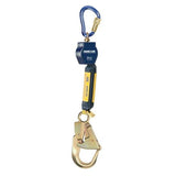 Nano-Lok™ Self Retracting Lifeline with Anchor Hook - Web - Swiveling Aluminum Carabiner/Aluminumk Rebar Hook