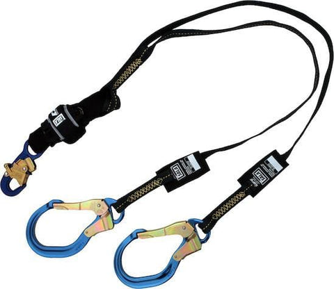 EZ-Stop™ Arc Flash 100% Tie-Off Shock Absorbing Lanyard - E4 aluminum snap hook at center 6 ft. (1.8m) - Barry Cordage
