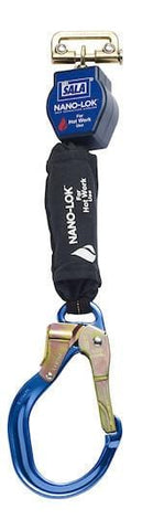 Nano-Lok™ Quick Connect Self Retracting Lifeline - For Hot Work Use - Rebar Lock Hook/Quick Connector for Harness Mounting - Barry Cordage
