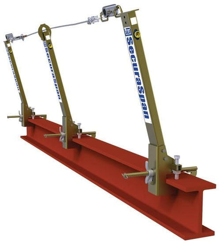 SecuraSpan™ I-Beam Horizontal Lifeline System 30 ft. (9.1m) - Barry Cordage