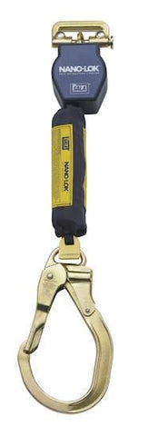 Nano-Lok™ Quick Connect Self Retracting Lifeline - Web - Locking Gate/Nose Steel Rebar Hook - Barry Cordage