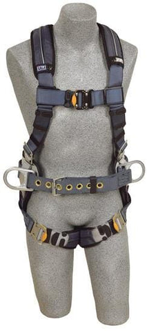 ExoFit™ XP Construction Style Positioning Harness quick connect buckle leg straps (size X-Large) - Barry Cordage