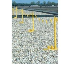 Yellow Perma‑Line System (3 self‑supporting bases, 4 stanchions and 100' of flagging.)