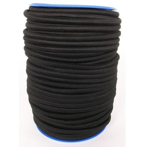 Polyester-Covered Elastic Rope 10mm X 100m Black - Barry Cordage