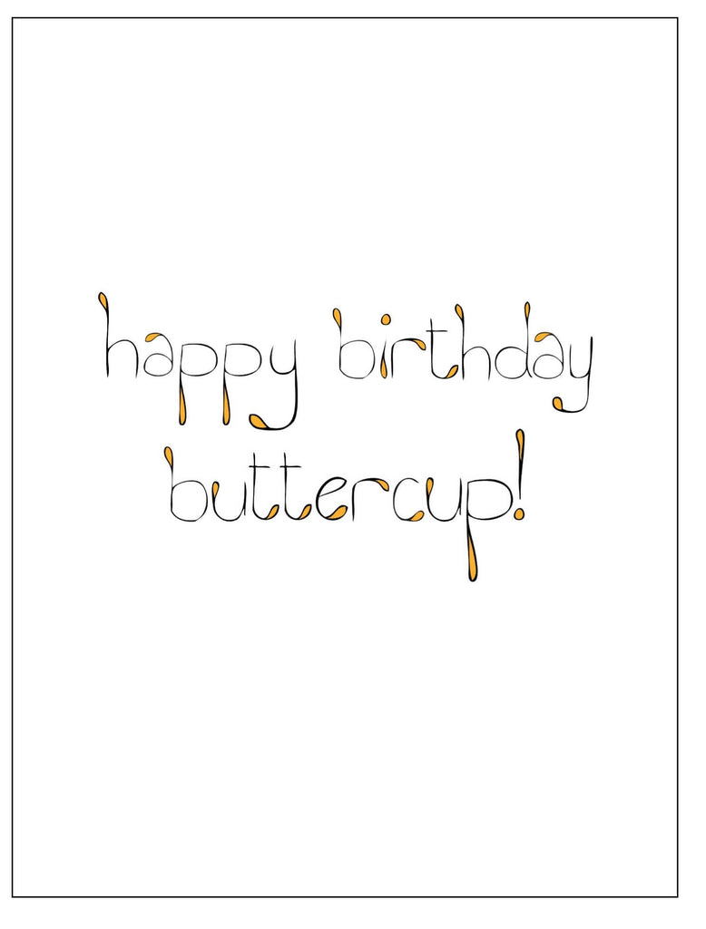 Buttercup Birthday Card 12 19