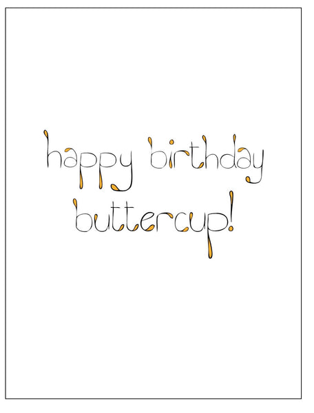 Buttercup Birthday Card    12-19