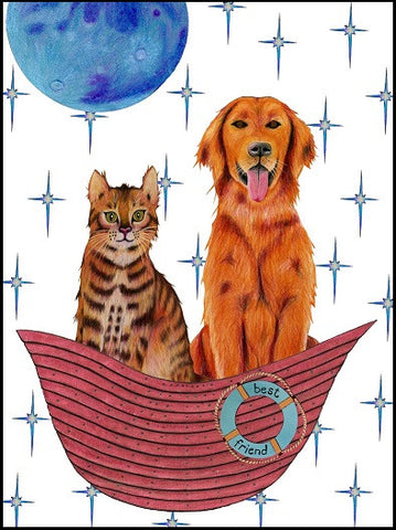 Best Friend Boat Pet Sympathy Card    13-07