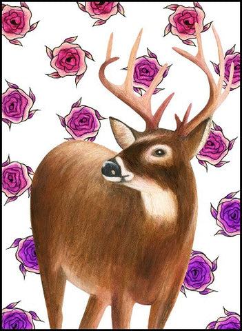 Urban bird greeting cards totem cards and gifts deer birthday card 12 06 bookmarktalkfo Image collections