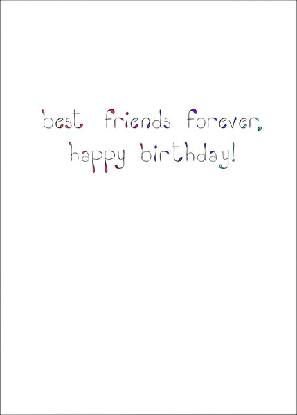 Forever Friends Boat Birthday Card    14-13