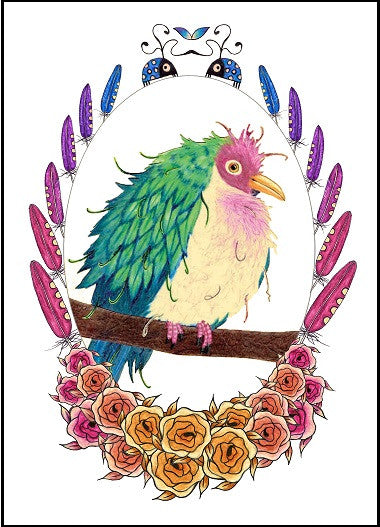 Fruit Pigeon Birthday Card  14-01