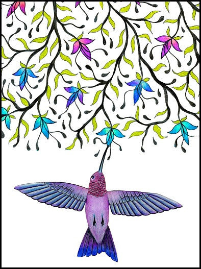 Hummingbird Birthday Card    13-10