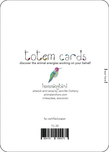 Hummingbird Totem Card  TC-39