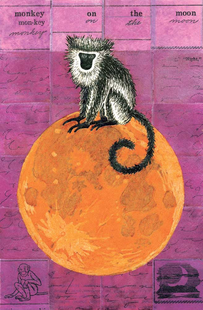 Monkey On The Moon Fine Art Print
