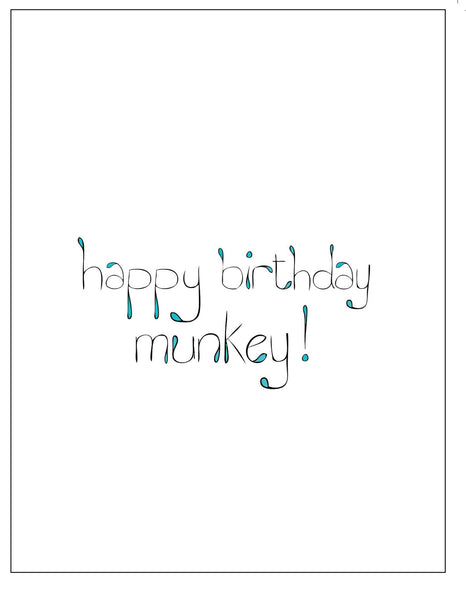 Munkey  Birthday Card    12-01