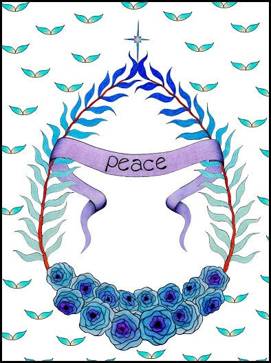 Peace Wreath Sympathy Card    13-02