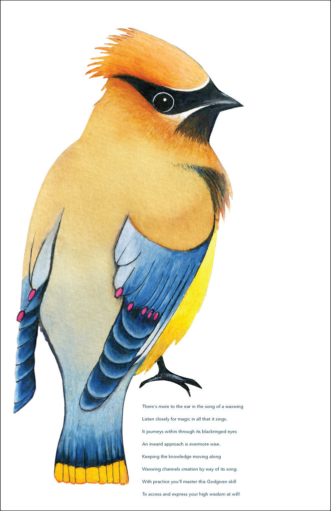 Waxwing Totem Print